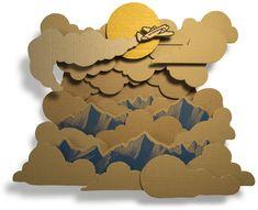 Art reciclant caixes de cartró. Per Aleix Abellanet.  http://www.aleixabellanet.com/index.php?/root/avio/