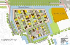 Woningen Coendersbuurt Nieuw Delft  Metselwerk Delft, Map, Cards, Maps