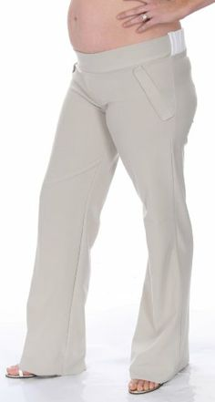 Women's Lauren Kiyomi Wide Leg Twill Pants (Maternity)