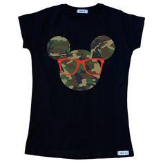 Camiseta Mickey camuflaje