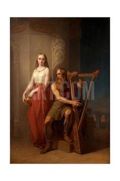 Idun and Bragi, 1846 Giclee Print by Nils Jakob Blommér at Art.com