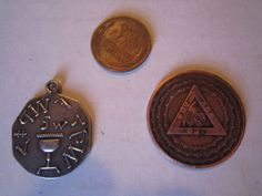 Illuminati Masonic Glass Cabochon Pendant Freemason Antique Bronze pin hat
