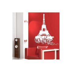 Stickers déco Paris blanc 114x150