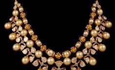Polki Diamonds Necklace with South-sea Pearls