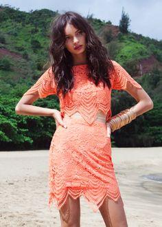 boutique flirt - For Love and Lemons Luma Lace Crop Top Tropical Orange, $149.00 (http://www.boutiqueflirt.com/for-love-and-lemons-luma-lace-crop-top-tropical-orange/)