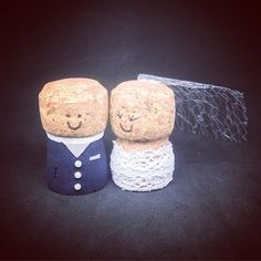 Dark Blue Suit and a silver tie Whatever your wedding colours we can make it for you. #wedding #caketopper #gift #bride #groom #cork #wine #custom #handmade