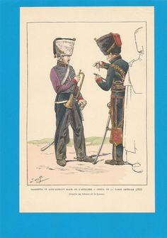 France - Planche de JOB - 1813. Garde Impériale. Artillerie à cheval.