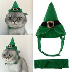 Elf Cap and BowTie Set for Cats/Dogs