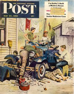 HOT RODS and JALOPIES: Vintage Magazine Cover Art (car related)....Christmas too....