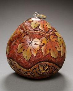 Marilyn Sunderland gourd art
