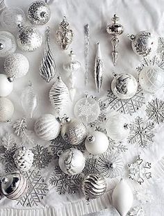 Give your Christmas tree a frosty upgrade this year with the stunning 60-pc. Let It Snow Ornament Collection that offers a wide array of beautiful shapes and shades of white and silver.