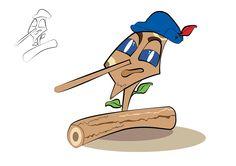 Ilustración personaje Pinocho  ArtDesignNator