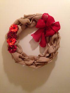 My fall burlap wreath I made!