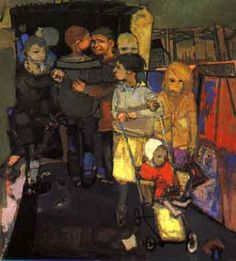 Glasgow children by Joan Eardley Gouache, Figurative Kunst, Glasgow School Of Art, Popular Artists, Pastel, Art And Illustration, Illustrations, Portrait Art, Figure Painting