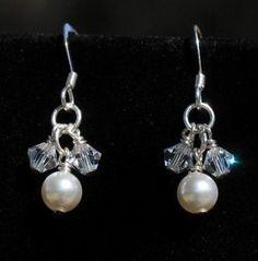 Swarovski Pearl with Swarovski Bicones Earrings   Flickr - Photo Sharing!