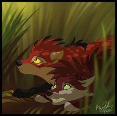 coming by KayFedewa on deviantART Cute Animal Drawings, Animal Sketches, Cool Drawings, Anime Wolf Drawing, Anime Art, Wolf Sketch, Lion King Art, Wolf Spirit Animal, Fantasy Wolf