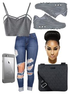Untitled #7 by kaytlxn98 on Polyvore featuring polyvore, fashion, style, WithChic, NIKE, Michael Kors, LifeProof and clothing