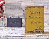 Antique Womens Medical Hand-Book, FIRST EDITION c1882, Antique Womens Health Book, The Practical Home Doctor For Women