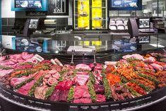 EDEKA Interbieten – Schrutka-Peukert GmbH Butcher Store, Carnicerias Ideas, Protein Shop, Meat Store, Coffee Shop Interior Design, Cafe Concept, Food Displays, Grocery Store, Street Food
