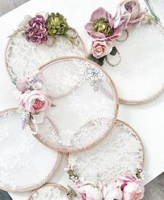 Embroidery hoop lace dream catchers 32 Ideas for 2020 Diy Wedding, Wedding Gifts, Wedding Lace, Wedding Ideas, Lace Wedding Decorations, Name Decorations, Wedding Bedroom, Wedding Keepsakes, Wedding Tables
