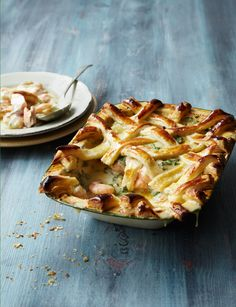 Take fish pies to new heights with this delicious lattice-topped fish pie Welsh Recipes, Pie Recipes, Seafood Recipes, Dinner Recipes, Cooking Recipes, Lunch Recipes, Fish Pie With Pastry, Roast Fish, Pub Food