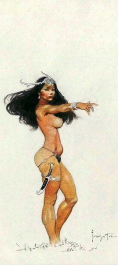 Dejah Thoris, by Frank Frazetta Frazetta women-always so powerful, strong and sexy!
