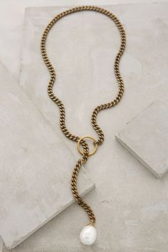 Pearl Lariat Necklace - anthropologie.com