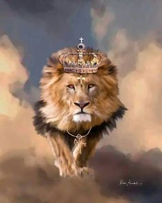 Christian Religious Art of Jesus Paintings - Lion of Judah the King of Kings Painting King Jesus, Jesus Is Lord, Jesus Christ, Lion Of Judah Jesus, Savior, Religion, Lion And Lamb, Tribe Of Judah, Jesus Painting