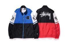 Stussy teams up with Champion to assemble a small sportswear collection for Spring 2015.