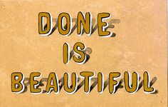 done is beautiful//cynthia warren
