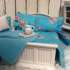 miniature dollhouse bedding - Google Search