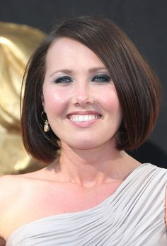 Rebecca Atkinson with a rounded, chin-length bob.