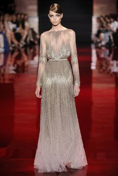 Elie Saab Fall Couture 2013, similar to Angelina Jolie's 2014 Oscar dress.