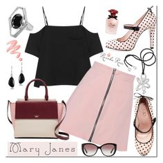 """""""Sweet Mary Janes"""" by revekarose ❤ liked on Polyvore featuring RED Valentino, T By Alexander Wang, Kate Spade, Dolce&Gabbana, Bulgari, Chantecaille, Silver, jewelry, maryjanes and revekarose"""
