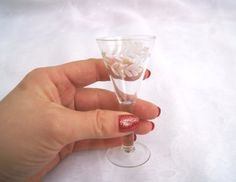 Set of 3 USSR Soviet drinking glasses with wonderful leaf ornament for drink  $20.00 USD
