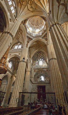 Interior de la Catedral de Salamanca.