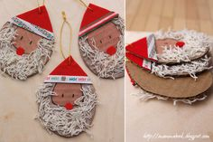 Santa's beard decoration (to make with two years old)