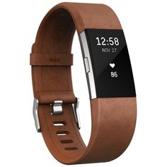 Fitbit Charge 2 Leather Accessory Band ($70) ❤ liked on Polyvore featuring jewelry, rings, cognac, band jewelry, band rings, fitbit jewelry, fitbit and leather ring