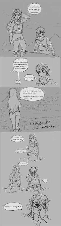The Legend of Zelda | Breath of the Wild | Comic | Link and Zelda