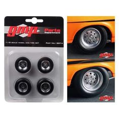 "1968 Chevrolet Nova ""1320 Drag King's"" Wheels and Tires Set of 4 1/18 by GMP Wheels And Tires, Hot Wheels, Indoor Jungle Gym, Drag King, Plan Toys, Chevrolet, Nova, Guilin, Ebay"