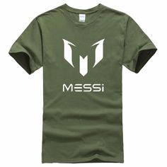 2017 summer brand 100% cotton Barcelona MESSI Men t-shirt tops Man casual  short · Pantalones Cortos ... 2bedeaf650e
