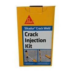 Sikadur Crack Weld Injection Kit is a two-component fast curing epoxy sealing system for repairing structural cracks in concrete and masonry. It conforms to ASTM It can be used for low pressure injection of cracks in structural concrete and solid masonry. Organic Protein Powder, Organic Coconut Oil, Concrete Sealant, Epoxy, Mortar Repair, Driveway Repair, Welding Gear, Welding Projects, Organic Molecules