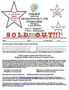 crazy bowl flyer sold out
