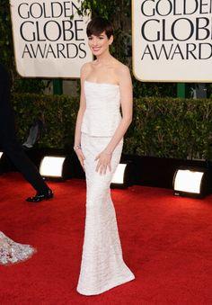 Anne Hathaway, de Chanel.    GETTY