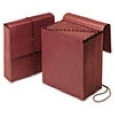 Desk Supplies>Desk Set / Conference Room Set>Holders> Files & Letter holders: Vertical Indexed Expanding File, A-Z, 21 Pockets, Letter, Redrope