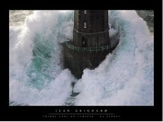 man standing in lighthouse surrounded by ocean wave | Lighthouse, Sea Surge and Survival in a Strong Tower | Graham Prouty ...