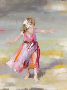 I love the movement in this painting! Belle by Susie Pryor