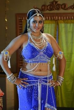 Namitha in Blue