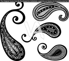 Paisley lace tattoo | Vector Graphics of Paisley Hand Drawn Design