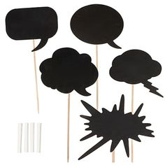 PHOTO BOOTH CHALK SPEECH BUBBLES PROP KIT. Genius idea for a photo booth! Perfect for photo shoots, or any events!  backdropoutlet.com